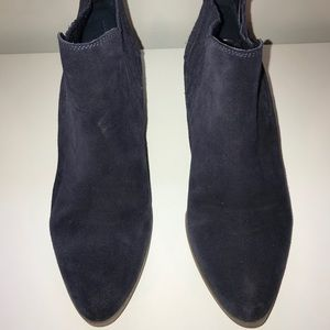 Crown Vintage Navy Suede Booties